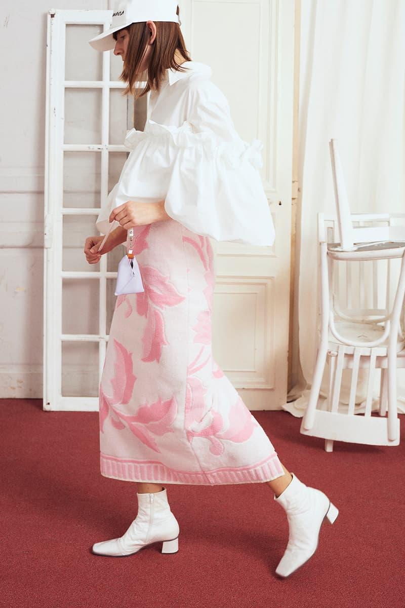 MM6 Maison Margiela Terry Towel Skirt Pink