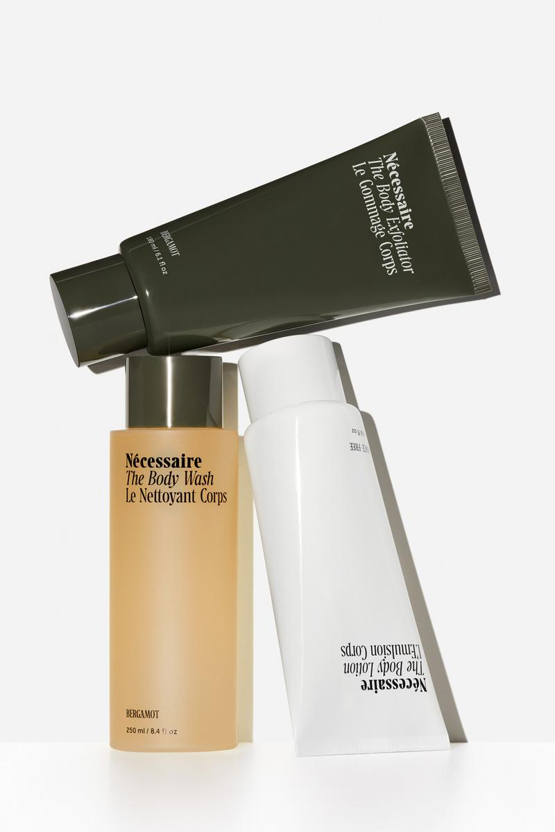 Nécessaire The Body Collection in Bergamot Scent Exfoliator Body Wash Lotion Products New Release
