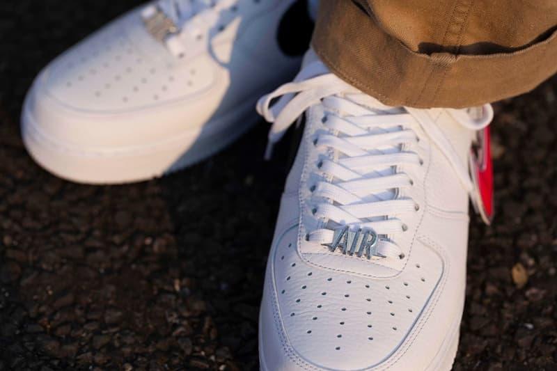 nike air force 1 07 premium zip swoosh pack sneakers white black neon pink green sneakerhead footwear shoes