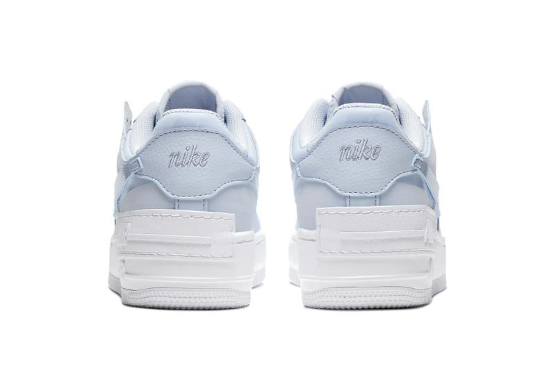 Nike Air Force 1 Shadow Baby Blue Glow in the Dark Sneaker Shoe Platform Trainer