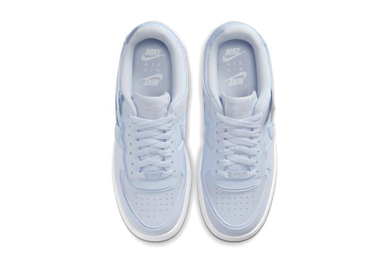 Nike Air Force 1 Shadow Baby Blue Glow in the Dark Sneaker Shoe Platform Trainer