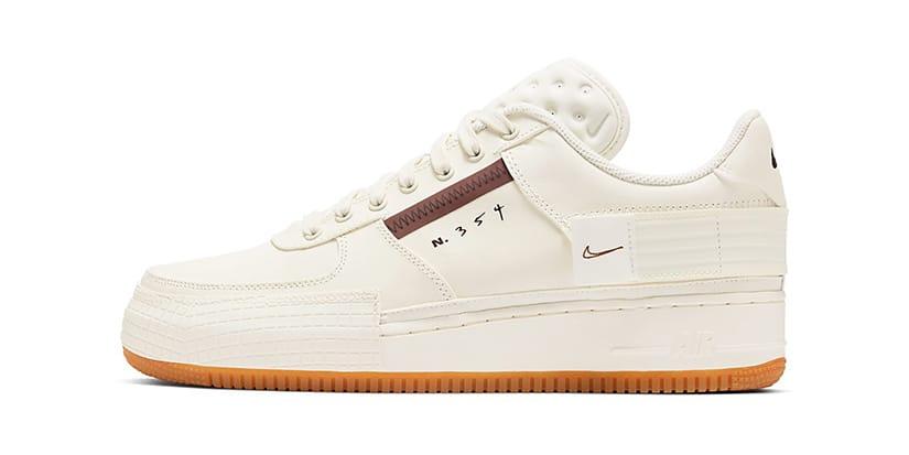 Nike Air Force 1 Type Brown/Cream White