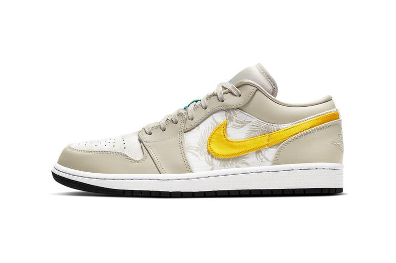 nike air jordan 1 low sneakers yellow beige shoes footwear sneakerhead