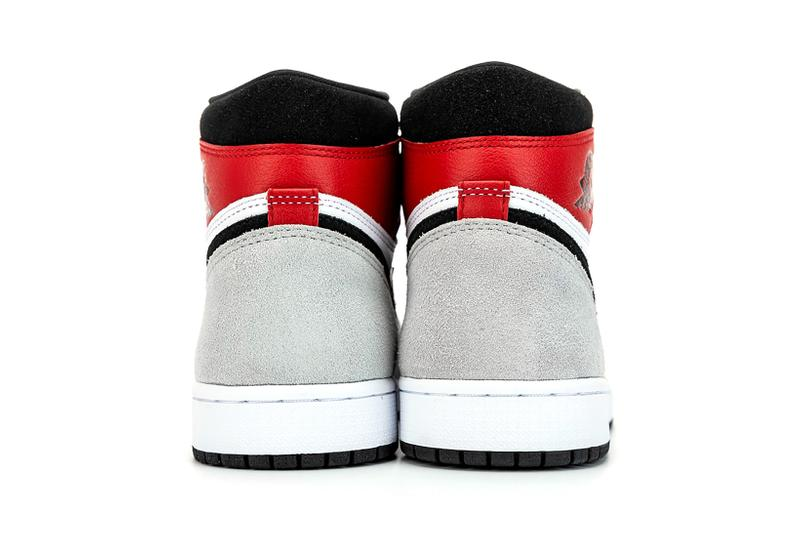 nike air jordan 1 retro high og sneakers grey white red shoes footwear sneakerhead