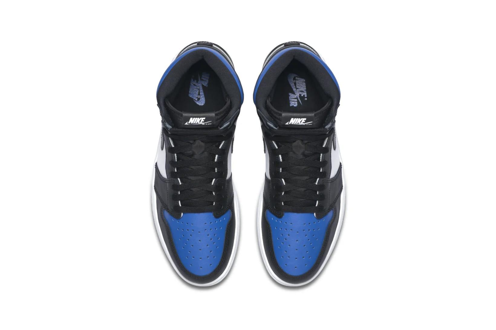 blue and black retro jordans