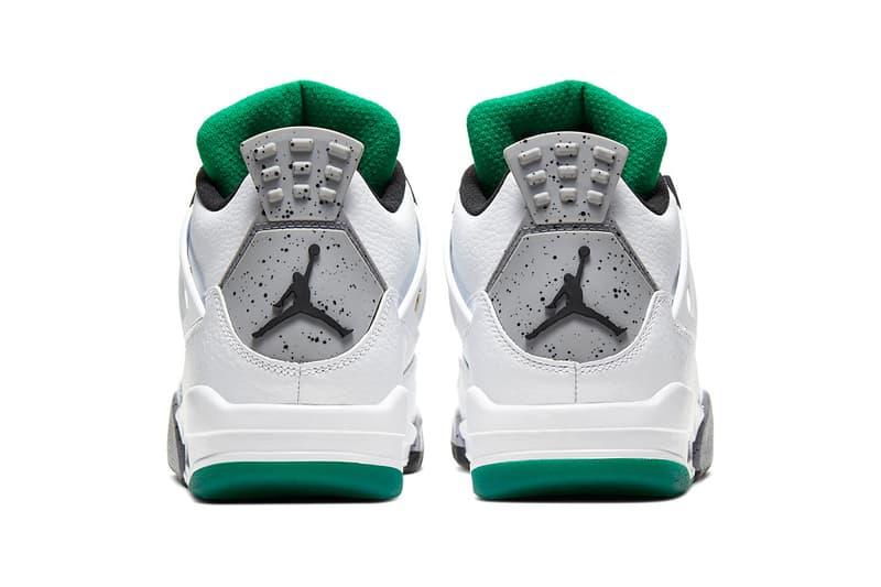 Nike Air Jordan 4 Retro Women's Do The Right Thing White Red Green Gold Rasta