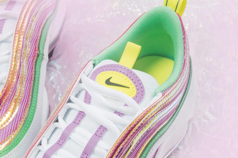 Nike Air Max 97 Metallic Pink Green Yellow Sneaker Release Spring Summer Colorway