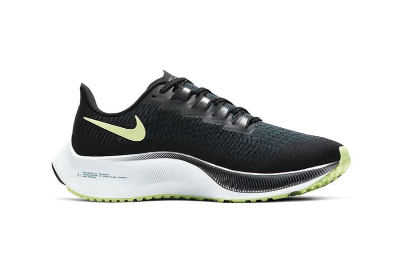 nike air zoom pegasus 37 womens sneakers pink black white neon green colorway sneakerhead footwear shoes