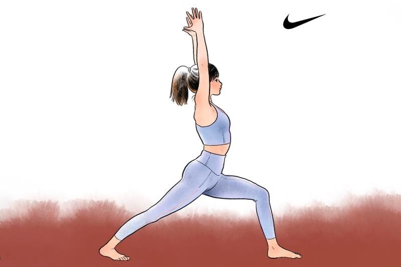 nike little thunder collaboration 7 day yoga asana challenge hong kong comic artist fitness anxiety