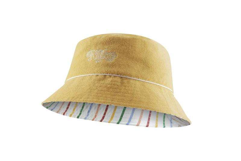 Nike Retro Logo Bucket Hat Reversible Design Accessory Striped