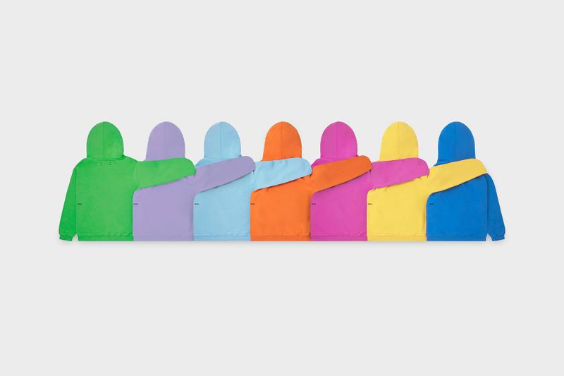 Pangaia Kids Collection Hoodies Green Orange