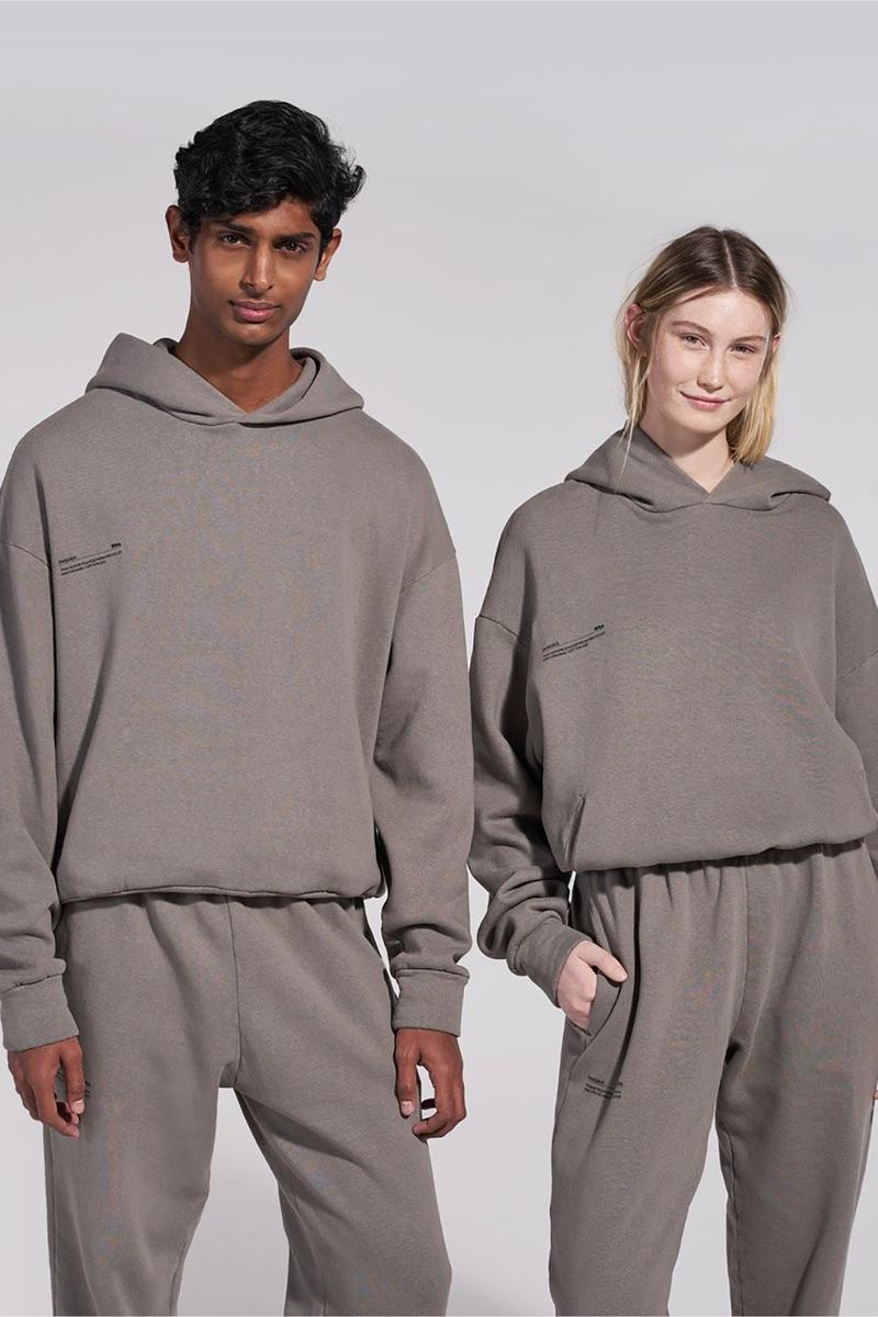 pangaia recycled cotton tracksuits pre order 24 hours sustainability white grey