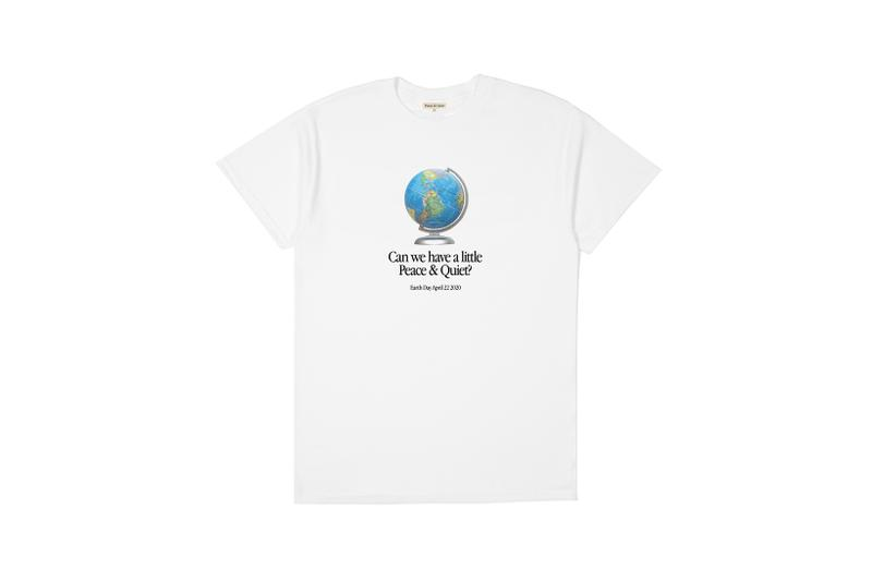peace and quiet earth day t shirt unisex limited edition white graphics