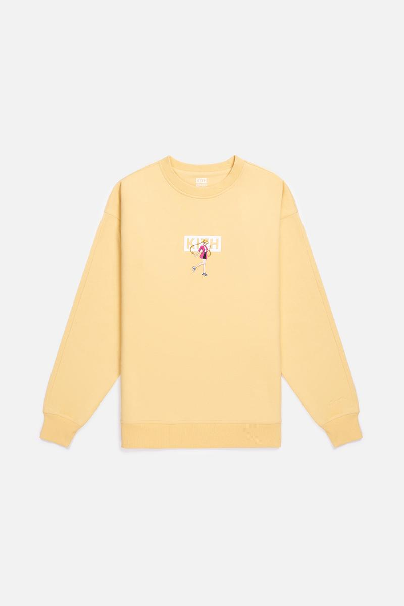 Sailor Moon x KITH Women Collaboration Collection Crewneck Yellow
