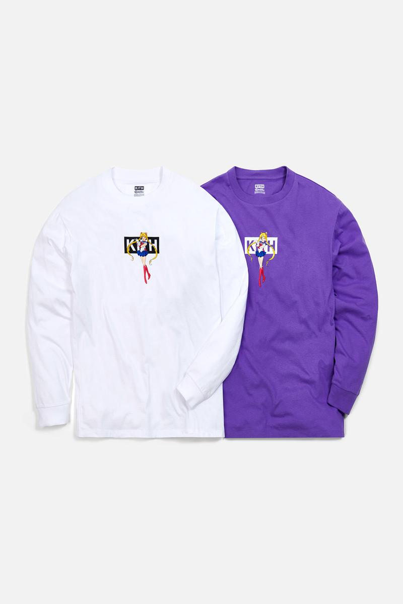 Sailor Moon x KITH Women Collaboration Collection Crewneck White Purple