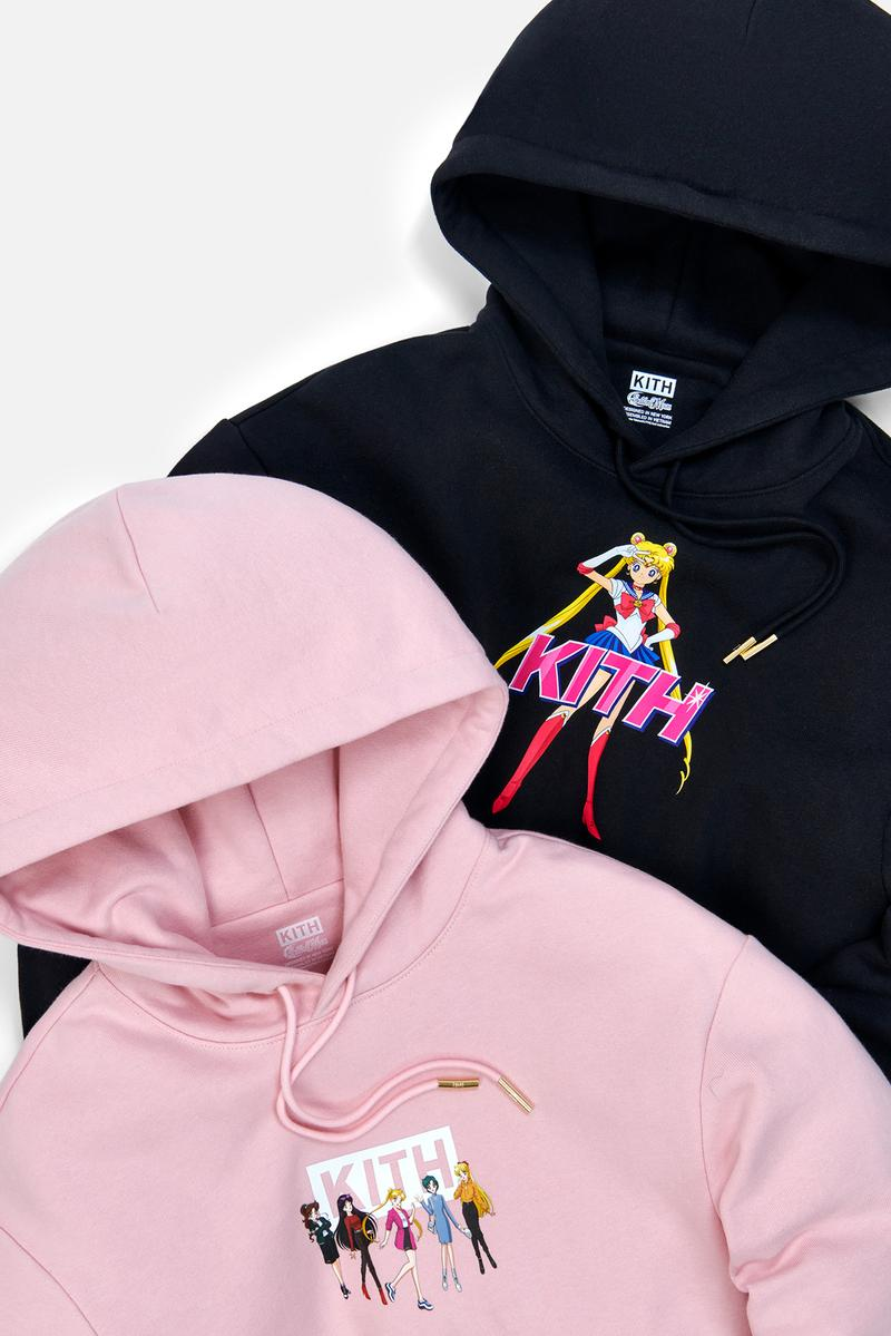 Sailor Moon x KITH Women Collaboration Collection Hoodie Pink Black