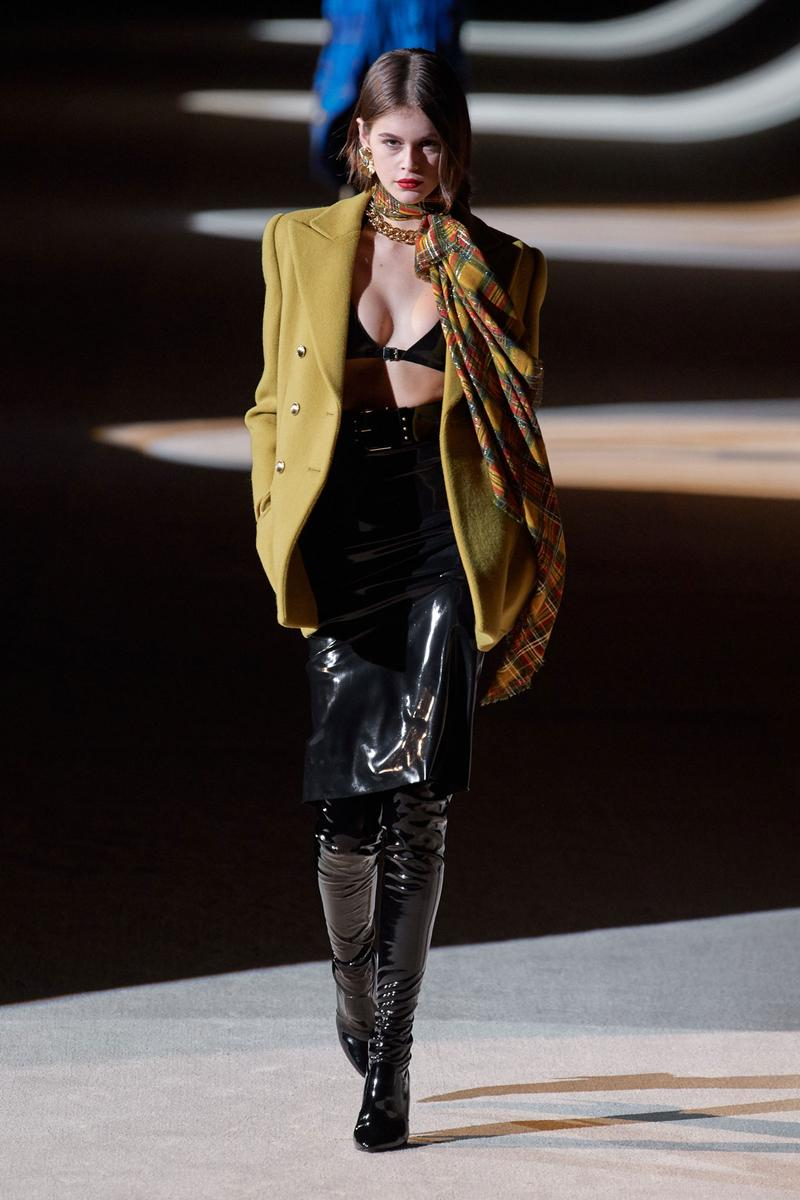 Saint Laurent Fall/Winter 2020 Show Paris Fashion Week Collection Kaia Gerber