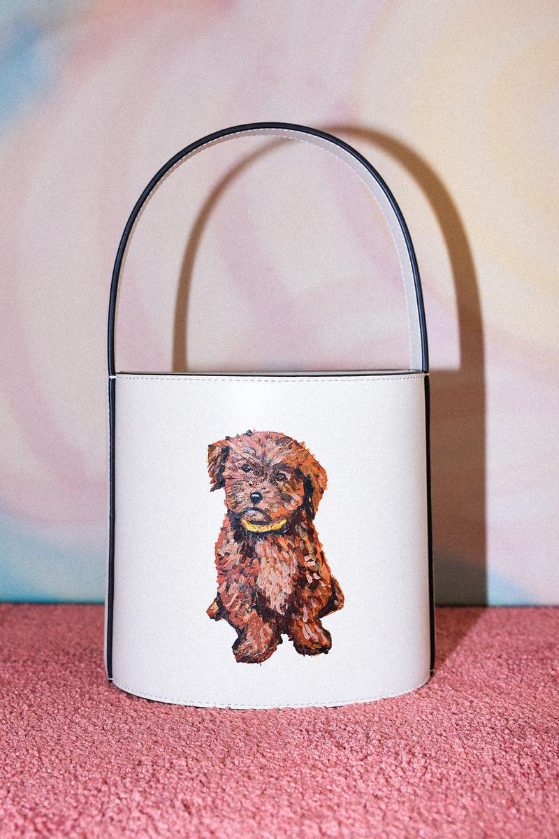 STAUD Pet Portrait Bag Bisset Cream