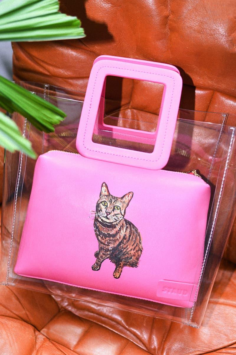 STAUD Pet Portrait Bag Shirley Clear Pink