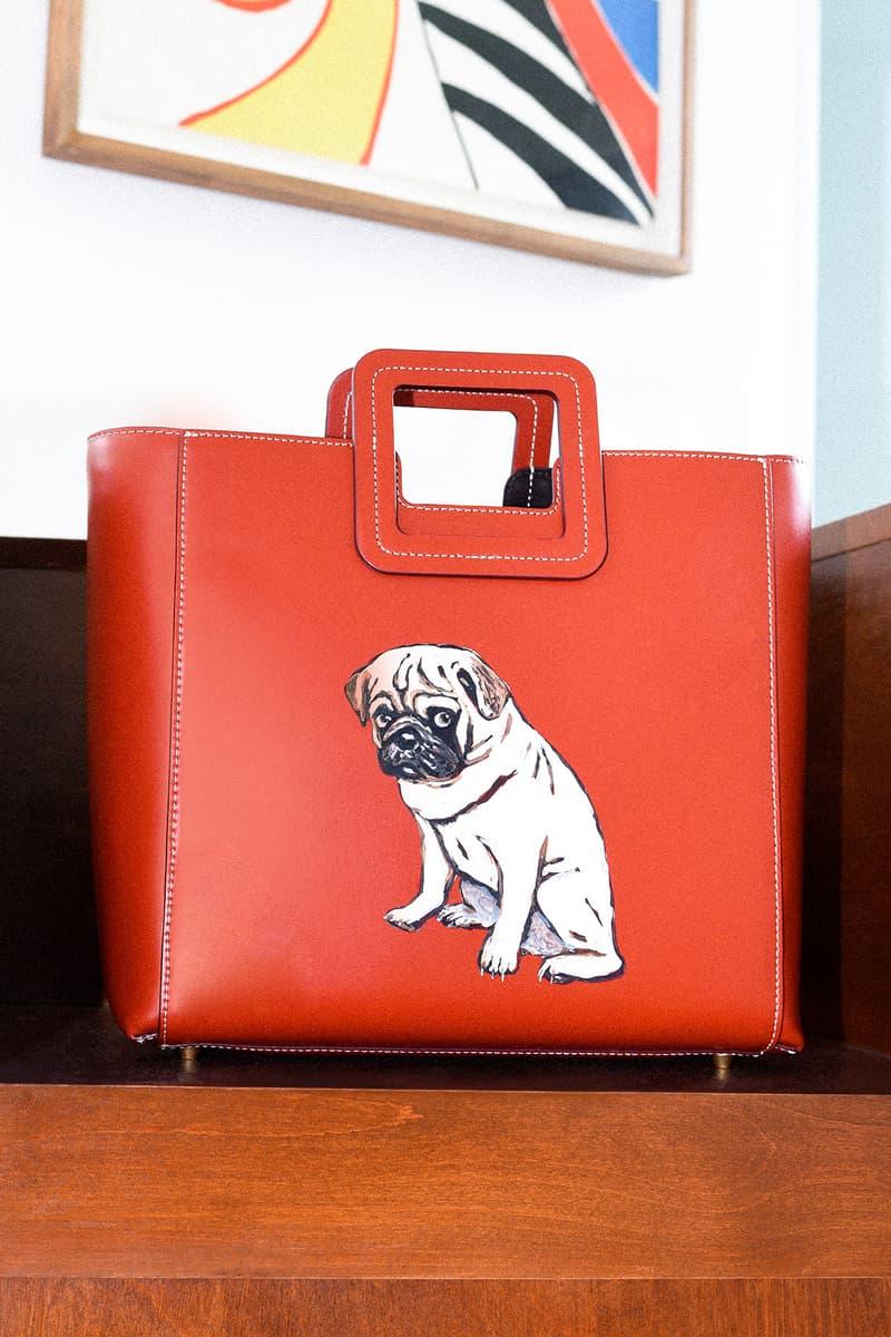 STAUD Pet Portrait Bag Shirley Cognac