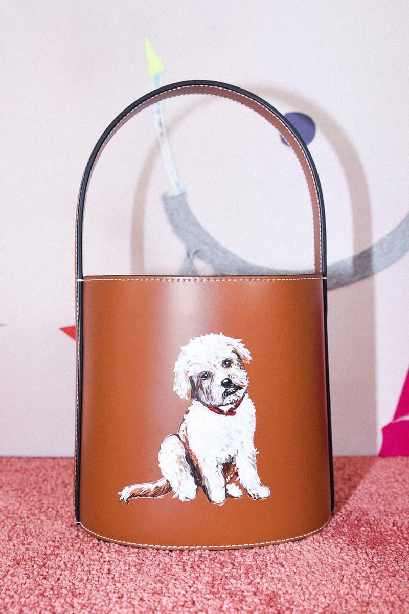 STAUD Pet Portrait Bag Bisset Cream Tan