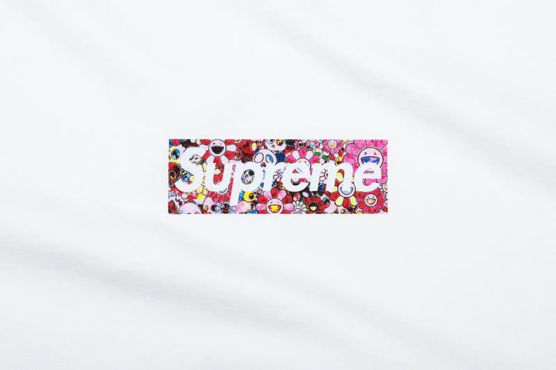 supreme takashi murakami collaboration coronavirus covid19 pandemic relief fund box logo t shirt