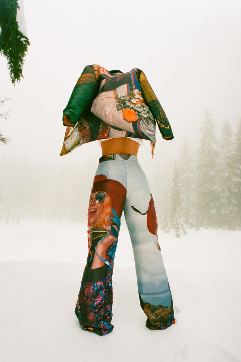 Fyoocher Vancouver Jamie Dawes rework upcycling sustainable brand fashion designer jacket trousers snow pants trees