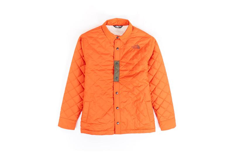 The North Face Remade Collection Quilted Jacket Orange