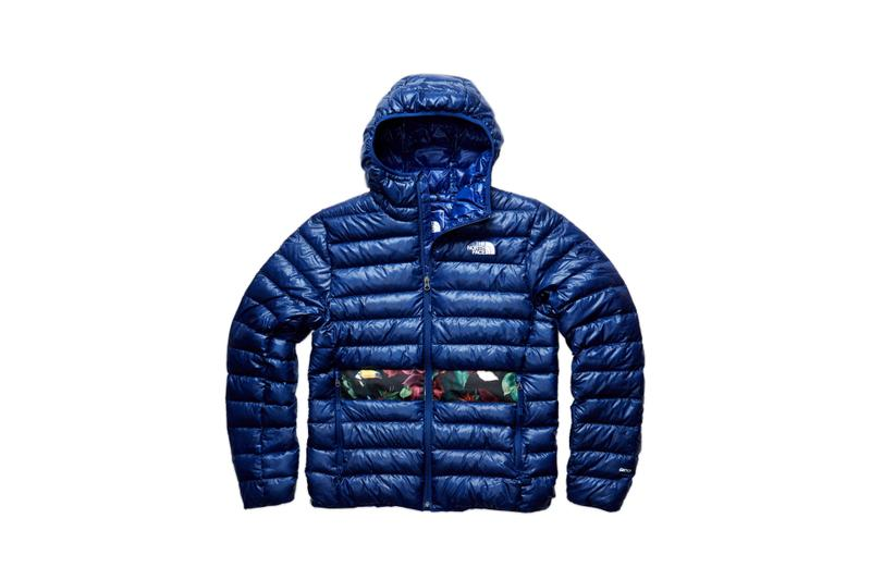 The North Face Remade Collection Puffer Jacket Blue Floral