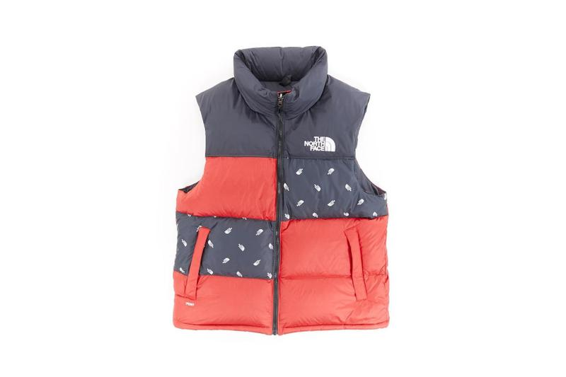 The North Face Remade Collection Puffer Vest Red Logo