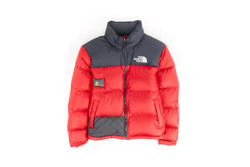 The North Face Remade Collection Puffer Jacket Red Black