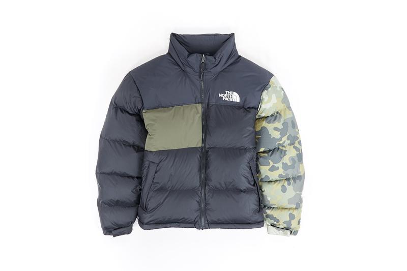 The North Face Remade Collection Puffer Jacket Black Camo