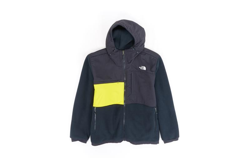 The North Face Remade Collection Fleece Jacket Black Yellow