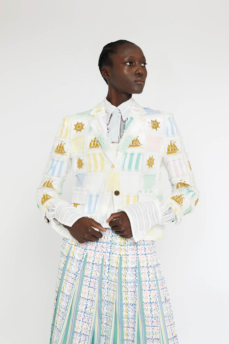thom browne spring summer collection seersucker suits dresses bags fashion