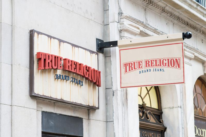 True Religion Store Logo Sign