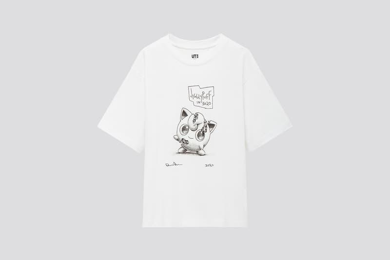 uniqlo ut daniel arsham pokemon collaboration t shirts pikachu jigglypuff black white