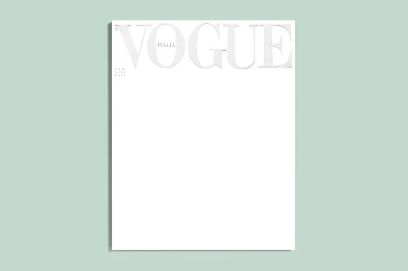 Vogue Italia April 2020 Cover Blank White