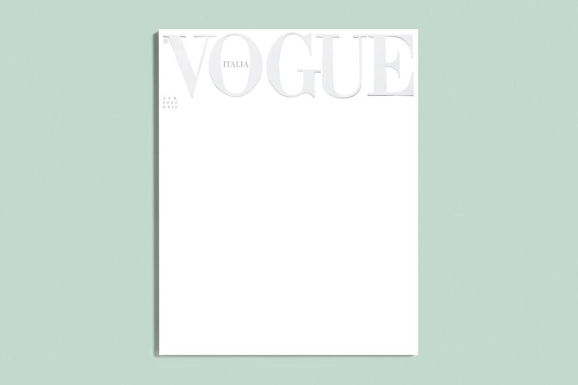 Vogue Italia Runs Blank Cover for April 2020 Issue   HYPEBAE