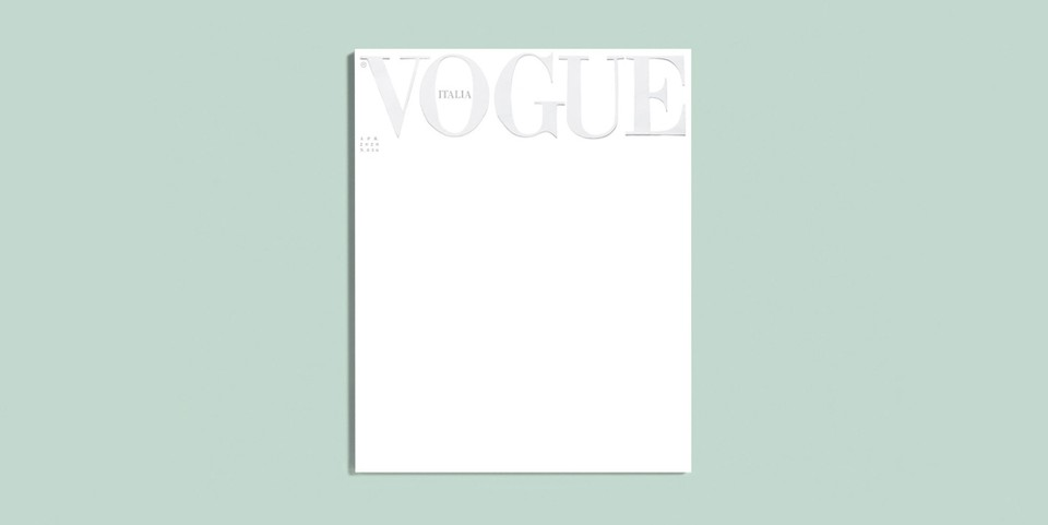 In Light of Coronavirus Pandemic, 'Vogue Italia' Publishes Blank April Cover
