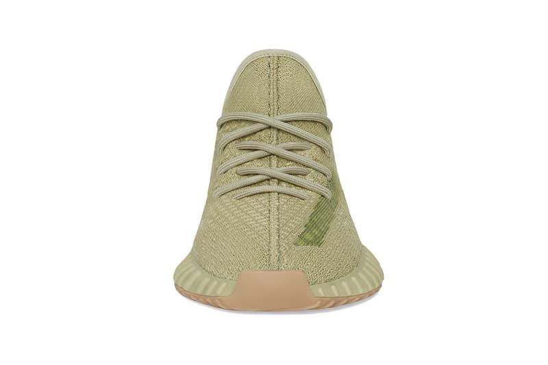 adidas kanye west yeezy boost 350 v2 sulfur sneakers olive green colorway sneakerhead shoes footwear