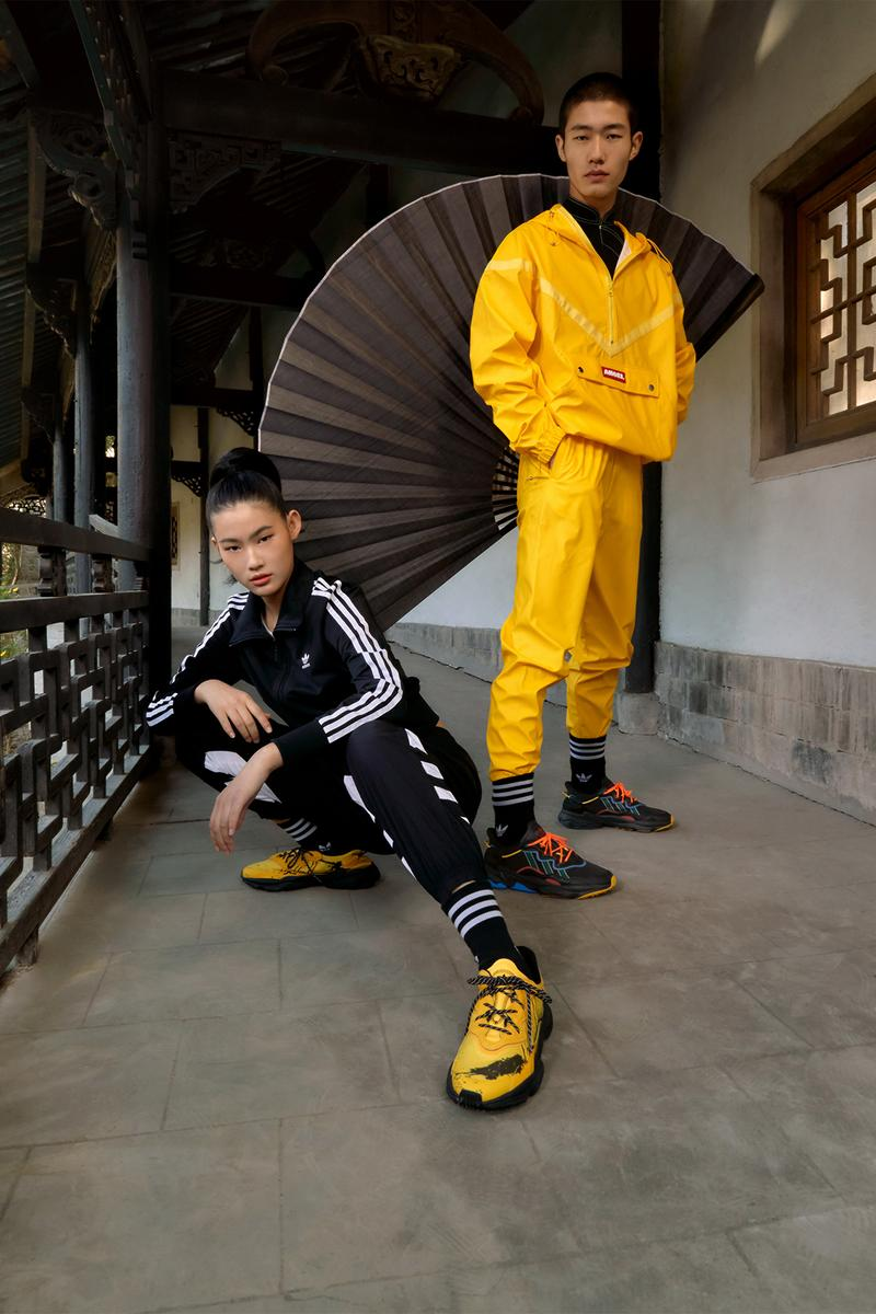 adidas originals angel chen collaboration sleek super kiellor ozweego magmur runner sneakers chinese martial arts shoes footwear sneakerhead