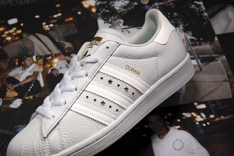 adidas Originals Superstar ADV Collaboration Jenn Soto Mariah Duran White Black Womens Sneakers