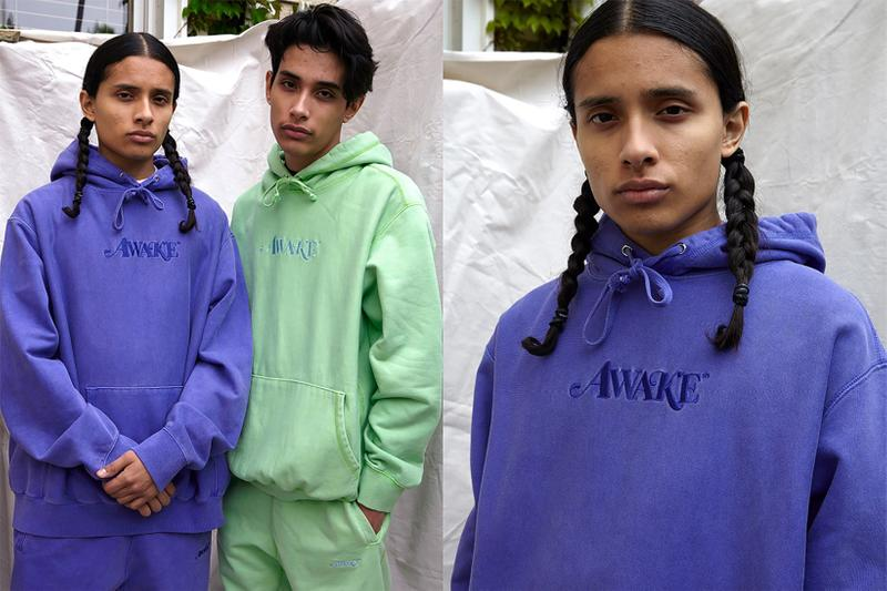 awake ny sam friedman spring summer collaboration purple pastel green hoodies