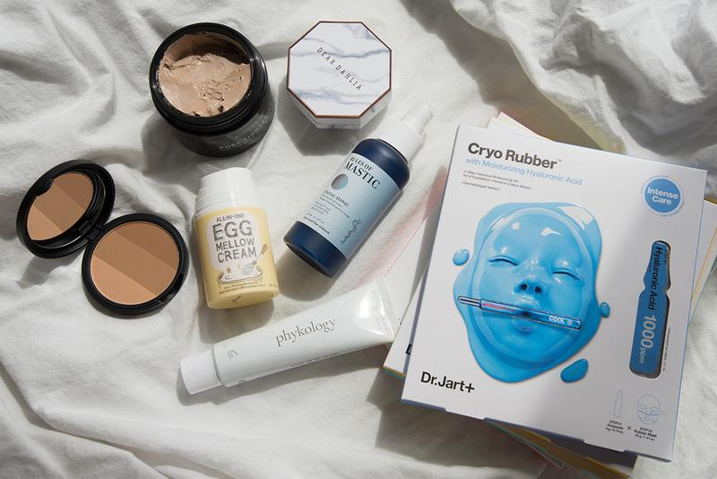K-Beauty Korean Skincare Makeup Products Dr.Jart+ Cryo Rubber Face Mask Too Cool for School Bronzer Egg Mellow Cream Tonic Dear Dahlia compact Phykology biorace clay mask