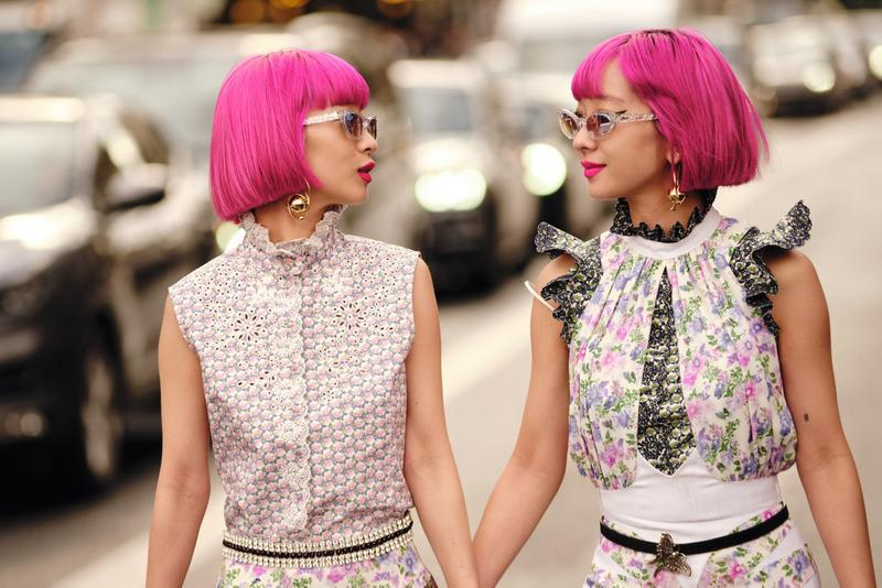 Amiaya Street Style Paris Fashion Week Fall/Winter 2020 Pink Hair