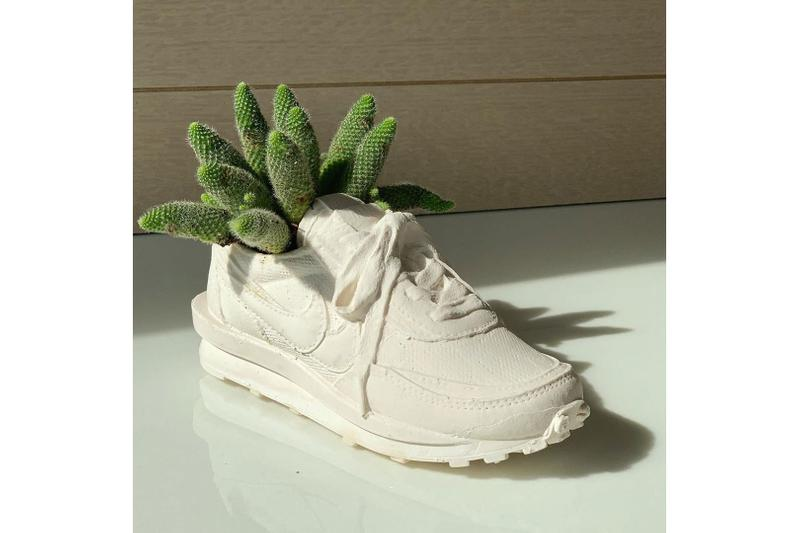 sacai x Nike LDV Waffle Plant Pot Vase Sneaker Shoe Bodega Rose
