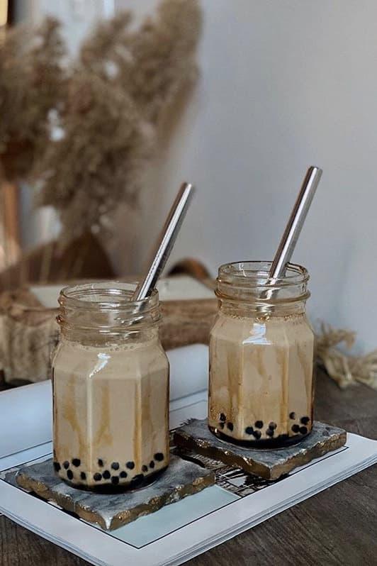 How To Make Bubble Tea Boba At Home Recipe Tapioca Pearls Milk Tea Drink Sweet Dessert