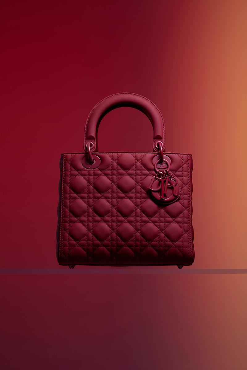 Dior Ultra-Matte Collection Bags Lady Dior Red