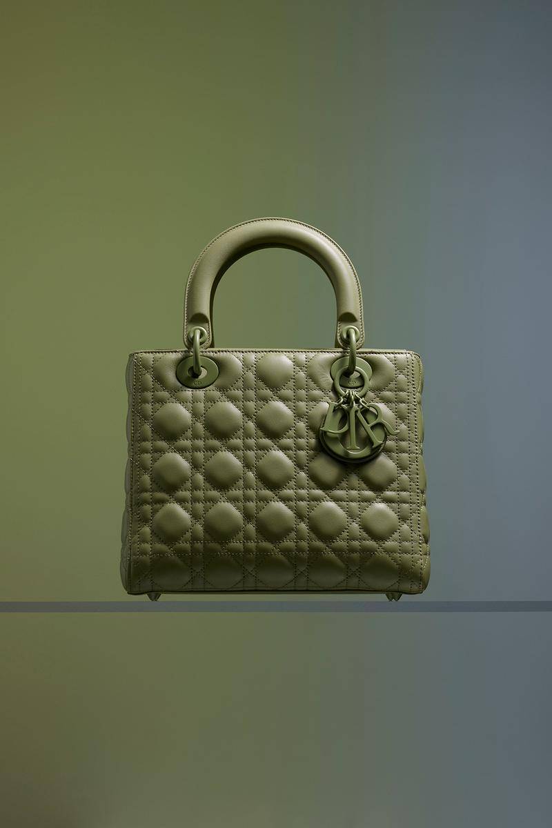 Dior Ultra-Matte Collection Bags Lady Dior Green