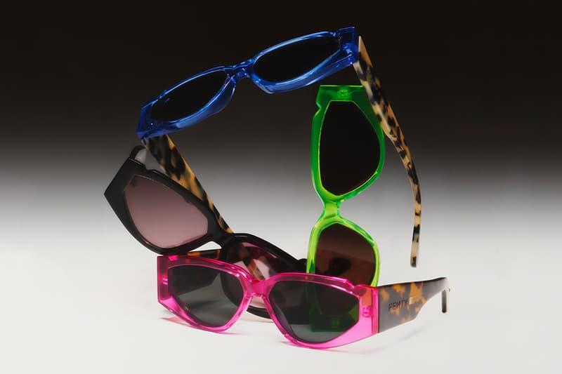 collezione occhiali da sole fenty rihanna eyewear vintage blu rosa verde nero stampa ghepardo
